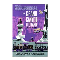"Original ""Grand Canyon Diorama"" Attraction Poster."