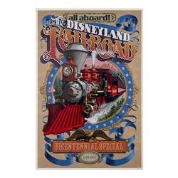 Disneyland R.R. - Bicentennial Attraction Poster.