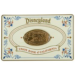 Union Bank of California Disneyland Pressed Penny & Holder.