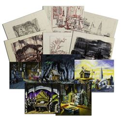 "Collection of Original ""Rescuers"" Window Display Scene Concepts."