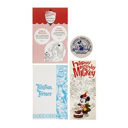 Set of (4) Mickey Mouse Birthday Promotional Items.