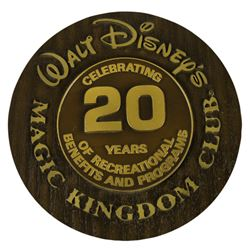 Magic Kingdom Club 20-Year Anniversary Plaque.