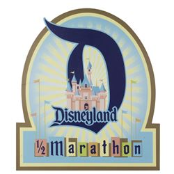 Disneyland Half Marathon Sign.