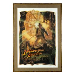 "Drew Struzan Signed ""Indiana Jones Adventure"" Poster."