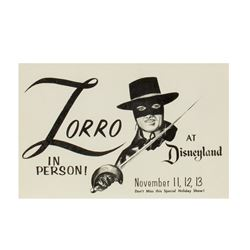 """Zorro at Disneyland"" Flyer."
