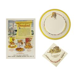 Aunt Jemima's Kitchen Advertisement, Plate, & Napkin.