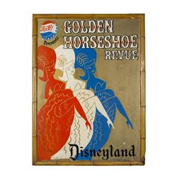 "Park-Used ""Golden Horseshoe"" Attraction Poster."
