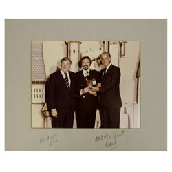 Signed Photo of Fulton Burley, Card Walker, & Donn Tatum.