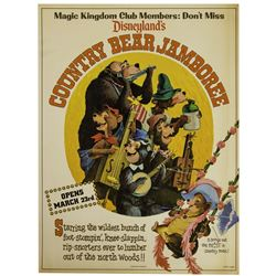 Country Bear Jamboree Grand Opening Flyer.