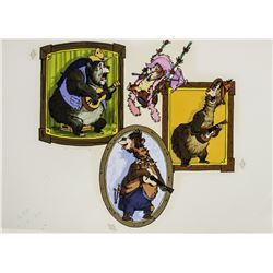 "Original Promotional Artwork for ""Country Bear Jamboree""."