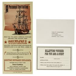 """Pirates of the Caribbean"" Special Voyage Invitation."