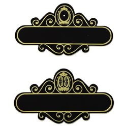 "Pair of ""Club 33"" Cast Member Name Badges."