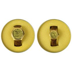 "Pair of Matching ""Club 33"" Men's and Women's Watches."
