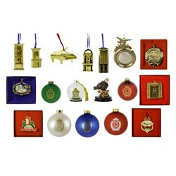 "Set of (19) ""Club 33"" Holiday Ornaments."
