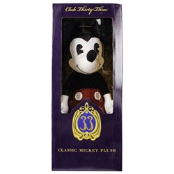 Club 33 Boxed Mickey Mouse Plush with Signature.