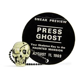 "Haunted Mansion ""Press Ghost"" Sneak Preview Skull."