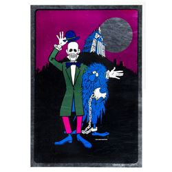 Haunted Mansion Hitchhiking Ghosts Foil Poster.