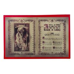 Haunted Mansion Madame Leota Seance Book Page Prop.