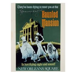 "Thurl Ravenscroft Signed ""Haunted Mansion"" Poster Print."