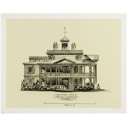 Haunted Mansion South Elevation Limited Edition Print.