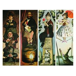 "Large ""Haunted Mansion"" Stretching Portraits Print Set."
