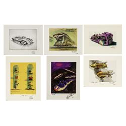 "Set of (6) ""Transportation of Tomorrow"" Signed Lithographs."