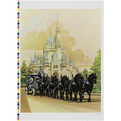 Cinderella Castle and Carriage Charles Boyer Print Test.