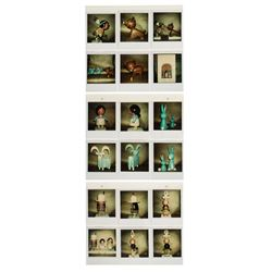 "Set of (24) ""Small World"" Polaroid Reference Photos."
