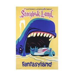 "Original Disneyland ""Storybook Land"" Attraction Poster."