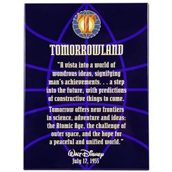 Tomorrowland Entrance Plaque.