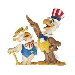America Sings Sam the Eagle and Ollie the Owl Props.