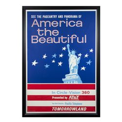 America the Beautiful in Circle-Vision Attraction Poster.