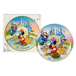 Walt Disney World 25th Anniversary Plate.