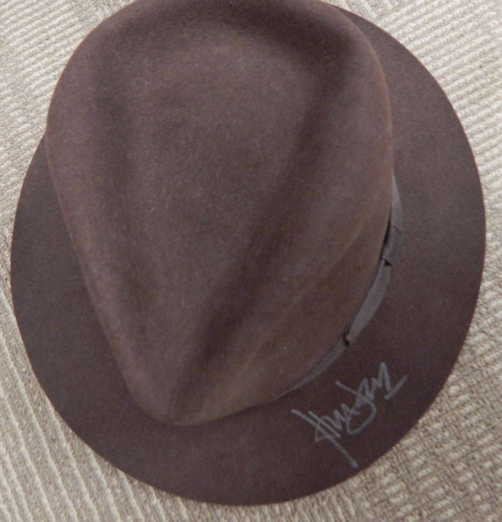 72acfaa2c1fcd ... wholesale harrison ford signed indiana jones hat fad6d bc89d