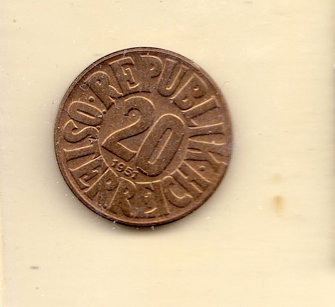 Image 1 Currency Coin Austria 20 Groschen