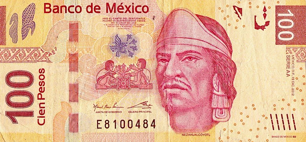 Image 1 Currency Paper Mexico 100 Pesos