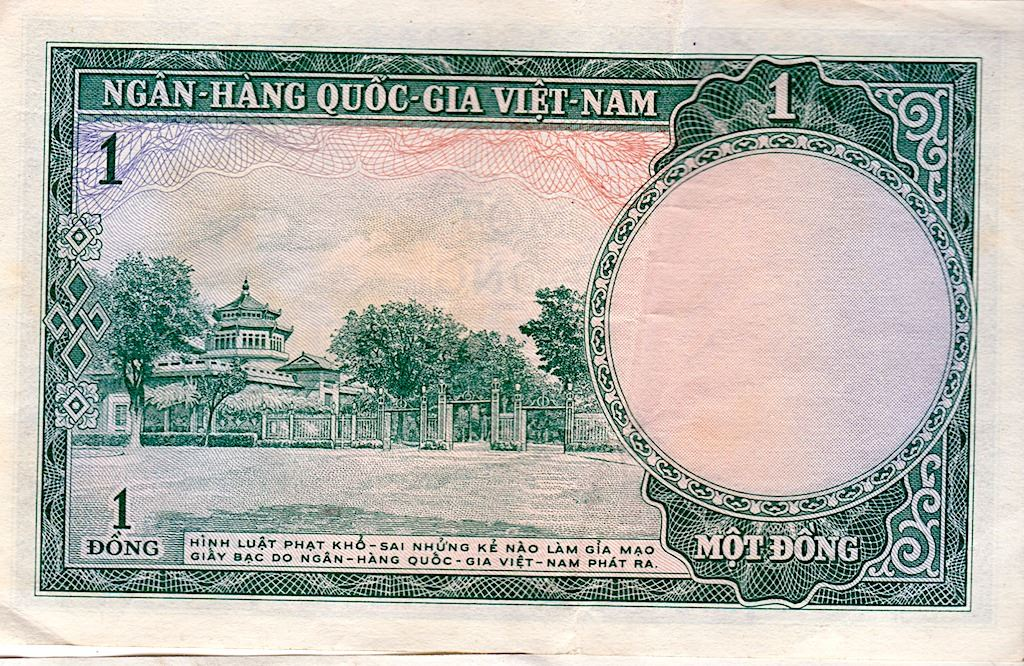 Image 1 Currency Paper Vietnam Dollar Mot Dong
