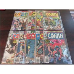Conan the Barbarian #70 through #79 inclusive