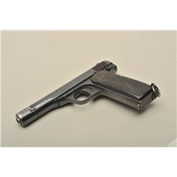 "FN Browning 1922 semi-automatic pistol with  Crown ""W"" Dutch marking on top of barrel, 9mm  caliber,"