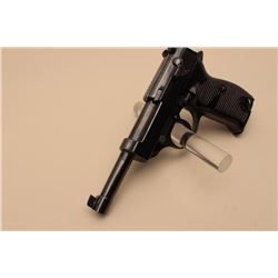 Model HP P-38 semi-automatic pistol, 9mm caliber, 4.75 barrel, re-blued