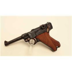 DWM Luger semi-auto pistol, 9mm caliber,  Serial #1695F.  The pistol is in very good  overall condit