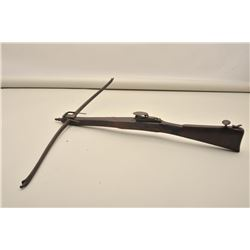"English bullet shooting crossbow circa  1800-1840 measuring approximately 32 ½"" from  tip to end and"