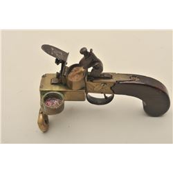 Authentic to the period of 1790 to early  1800's English flintlock tinder lighter  signed Bolton. Br