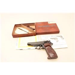 Walther by Manurhin (France) Model PP semi-automatic pistol, .22LR caliber,