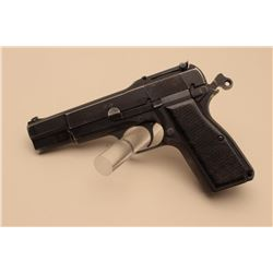 "Browning FN MK I semi-automatic pistol, 9mm  caliber, 4.5"" barrel, INGLIS CANADA-marked  and proofed"