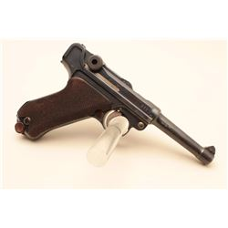 DWM Luger semi-automatic pistol dated 1915, British proofed, 9mm caliber,