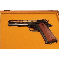 Cased Colt John Browning Commemorative 1911-1981 semi-auto pistol, .45 ACP,
