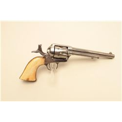 Colt SAA revolver, .44 RF caliber, 7.5 barrel, nickel finish,
