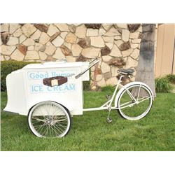 Worksman ice cream cart in exceptional condition from Harolds Club