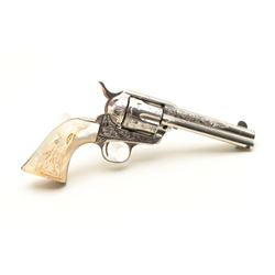 Colt SAA factory engraved with carved eagle grips set with